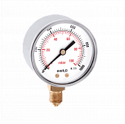 Pressure gauge for gas application